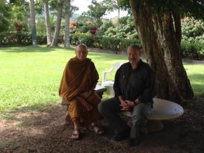 Ajahn & John under tree