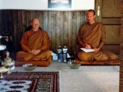 Ajahn Tiradhammo & John Barter 1992 Dhamma Pala Switzerland