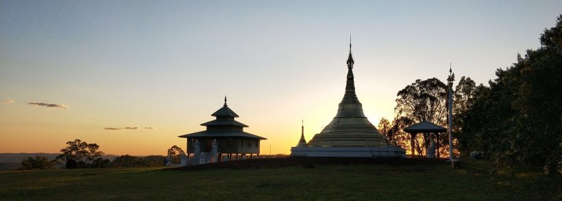 Sunset over Bodhi Tree Forest Monastery