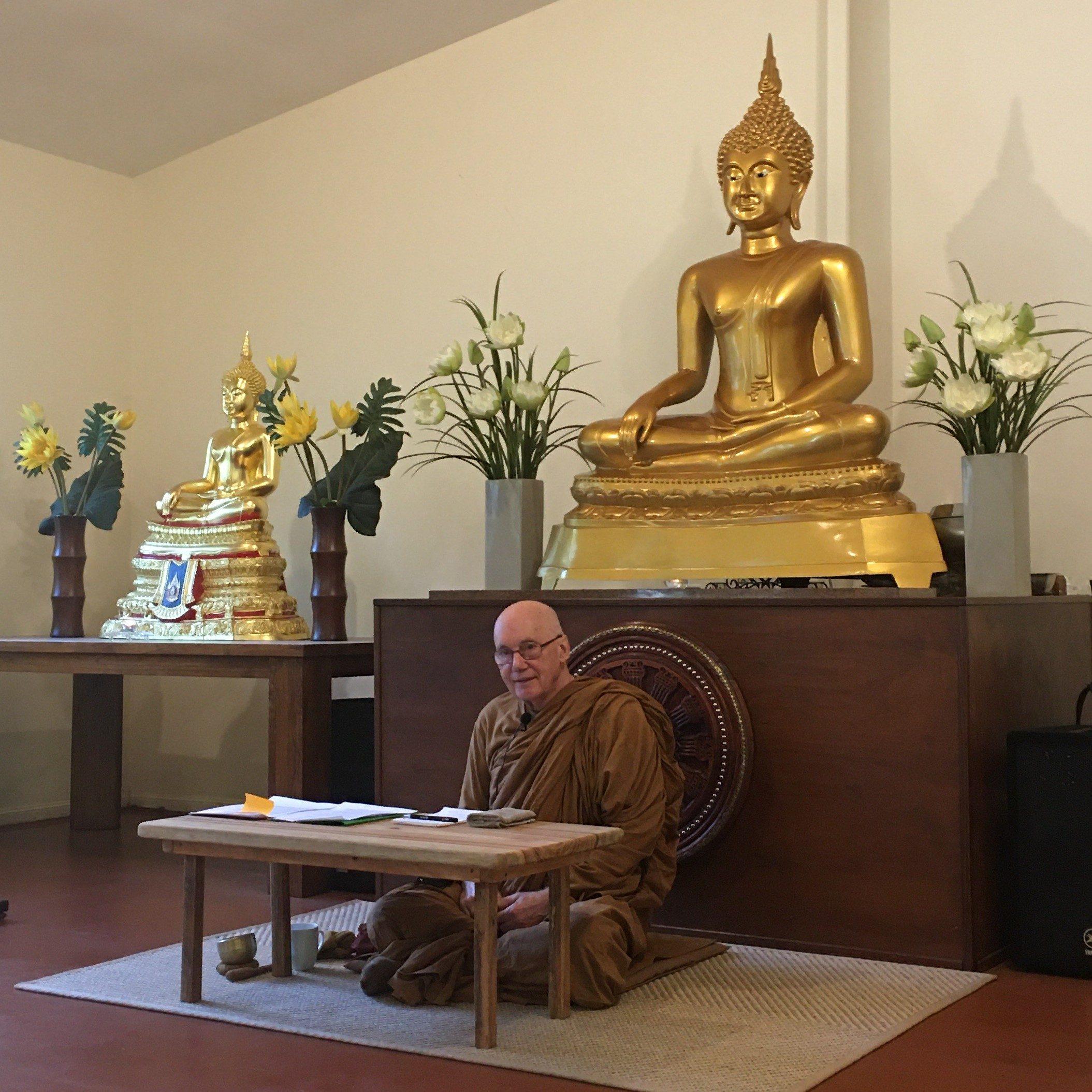 Venerable Pannyavaro offering his Teaching and Guidance throughout the Vassa Retreat Day